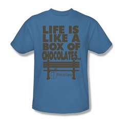 Forrest Gump Shirt Life Adult Carolina Blue Tee T-Shirt