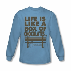 Forrest Gump Shirt Life Long Sleeve Carolina Blue Tee T-Shirt