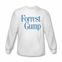 Forrest Gump Shirt Logo Long Sleeve White Tee T-Shirt