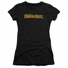Fraggle Rock Juniors Shirt Logo Black T-Shirt