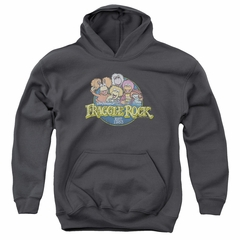 Fraggle Rock Kids Hoodie Circle Logo Charcoal Youth Hoody