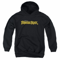 Fraggle Rock Kids Hoodie Logo Black Youth Hoody