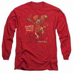 Fraggle Rock Long Sleeve Shirt Dance Red Tee T-Shirt