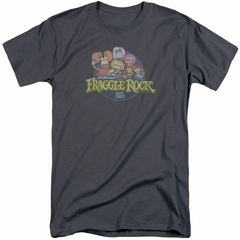 Fraggle Rock Shirt Circle Logo Charcoal Tall T-Shirt