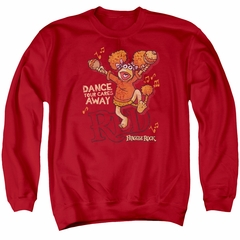 Fraggle Rock Sweatshirt Dance Adult Red Sweat Shirt