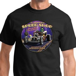 Frankenstein Frankie's Speed Shop Mens Halloween Shirts