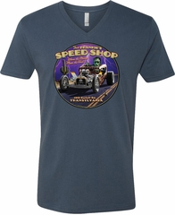 Frankenstein Tee Frankie's Speed Shop V-neck