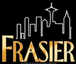 Frasier Funny TV Show FRASIER LOGO Adult Black T-shirt
