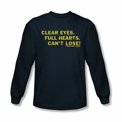 Friday Night Lights Shirt Clear Eyes Long Sleeve Navy Tee T-Shirt