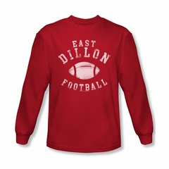 Friday Night Lights Shirt East Dillon Football Long Sleeve Red Tee T-Shirt