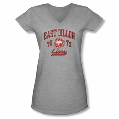 Friday Night Lights Shirt Juniors V Neck Lions Athletic Heather T-Shirt
