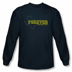 Friday Night Lights Shirt Texas Forever Long Sleeve Navy Tee T-Shirt