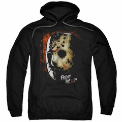 Friday the 13th Hoodie Jason Voorhees Mask Black Sweatshirt Hoody