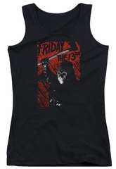 Friday the 13th Juniors Tank Top Jason Lives Black Tanktop