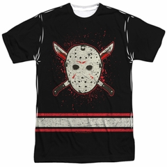 Friday the 13th Long Sleeve Jason Voorhees Jersey Sublimation Shirt Front/Back Print