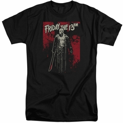 Friday the 13th Shirt Death Curse Tall Black T-Shirt