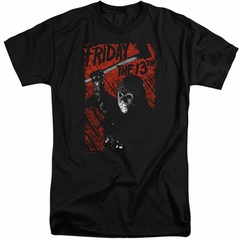 Friday the 13th Shirt Jason Lives Tall Black T-Shirt