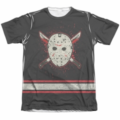 Friday the 13th Shirt Jason Voorhees Jersey Poly/Cotton Sublimation Shirt Front/Back Print
