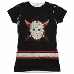 Friday the 13th Shirt Jason Voorhees Jersey Sublimation Juniors Shirt