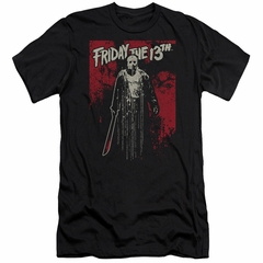 Friday the 13th Slim Fit Shirt Death Curse Black T-Shirt