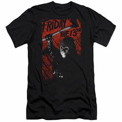 Friday the 13th Slim Fit Shirt Jason Lives Black T-Shirt