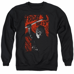 Friday the 13th Sweatshirt Jason Lives Adult Black Sweat Shirt