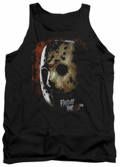 Friday the 13th Tank Top Jason Voorhees Mask Black Tanktop