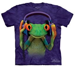 Frog Kids Shirt Tie Dye Froggie DJ Peace T-shirt Tee Youth