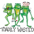 Frog T-shirt - Toadily Wasted Drunk Frog Funny Toad Tee