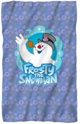"Frosty the Snowman Microfiber Fleece Blanket - 36"" X 58"""
