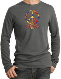Funky 70s Peace Long Sleeve Thermal T-Shirts