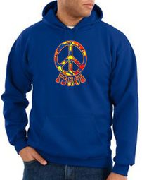 Funky 70s Peace Pullover Hooded Sweatshirts