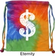 Funny Bag Distressed Dollar Sign Tie Dye Bag