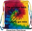 Funny Bag I've Got Your Back Tie Dye Bag