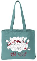 """Funny Bowling """"OH"""" Pastel Carrying Bag - Front & Back Print"""