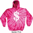 Funny Hoodie Distressed Dollar Sign Tie Dye Hoody