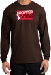 Funny Long Sleeve T-Shirt - Dropped On My Head As A Child Brown Tee