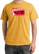 Funny Pigment Dyed T-Shirt - Dropped On My Head As A Child Mustard Tee