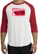 Funny Raglan Shirt - Dropped On My Head As A Child White/Red Tee