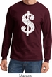 Funny Shirt Distressed Dollar Sign Long Sleeve Tee T-Shirt