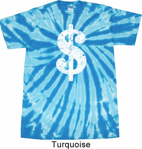 155d0ae12 Funny Shirt Distressed Dollar Sign Twist Tie Dye Tee T-shirt ...