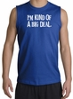 Funny Shirt I'm Kind of a Big Deal White Print Muscle Shirt Royal