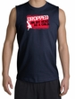Funny Shooter Shirt - Dropped On My Head As A Child Navy Muscle Shirt