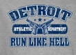 Funny T-shirt - Detroit Run Like Hell Heather Gray Tee