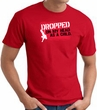 Funny T-Shirt - Dropped On My Head As A Child Adult Red Tee Shirt
