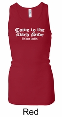 Funny Tank Come To The Dark Side Ladies Longer Length Racerback Tank