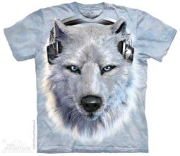 Funny White Wolf Shirt Tie Dye Adult T-Shirt Tee