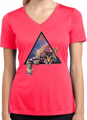 Galactic Cat Ladies Dry Wicking V-neck