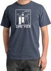 Game Over Ceremony Pigment Dyed Scotland Blue T-shirt - White Print
