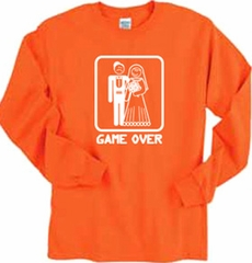 Game Over Funny Groom Marriage Long Sleeve T-shirt Tee Shirt